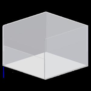 Akryl box med låg framtkant